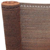 Árnyékoló háló - barna-fekete csíkós