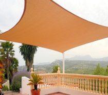 Árnyékoló napvitorla négyszög alakú - vízálló