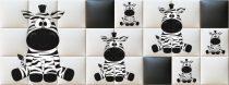 Nyomtatott műbőr falvédő - Zebra